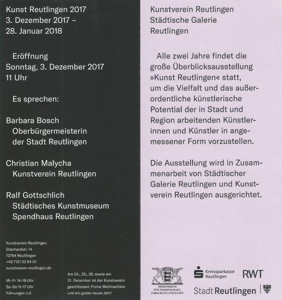Künstler Reutlingen friedhelm wolfrat kunstverein reutlingen kunst reutlingen 2017