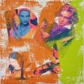 Friedhelm-Wolfrat-Der-Komponist-40x40-cm-Collage-auf-Keilrahmen