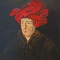 Friedhelm-Wolfrat-Jan-van-Eyck-1390-1441-Selbstbildnis-1433-Portrait-Wolfrat-2016