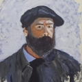 Friedhelm-Wolfrat-Monet-1840-1926-Selbstbildnis-mit-Barett-1886-Portrait-Wolfrat-2017