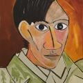 Friedhelm-Wolfrat-Pablo-Picasso-1881-1973-Selbstportrait-1907-Portrait-Wolfrat-2019