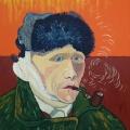 Friedhelm-Wolfrat-Vincent-van-Gogh-1853-1890-Selbstportrait-mit-verbundenem-Ohr-und-Pfeife-1889-Portrait-Wolfrat-2019