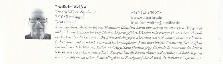 Internationale Kunst Heute 2016 - Kontakt Friedhelm Wolfrat